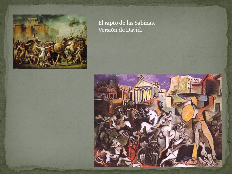 El rapto de las Sabinas. Versión de David.
