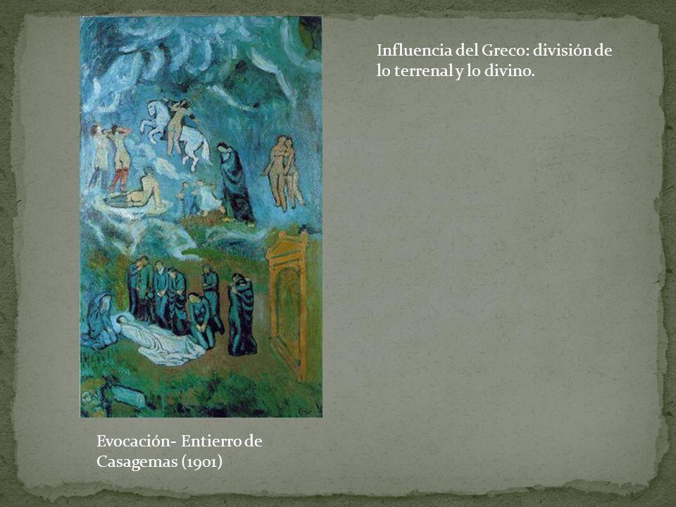 Influencia del Greco: división de lo terrenal y lo divino.