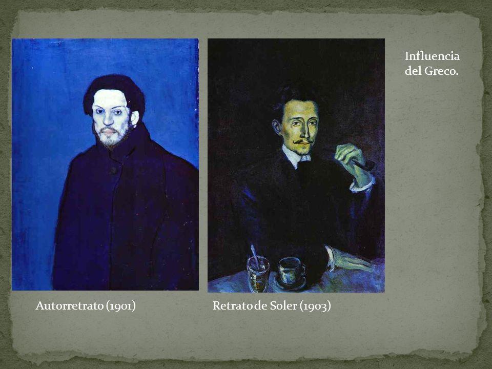 Influencia del Greco. Autorretrato (1901) Retrato de Soler (1903)