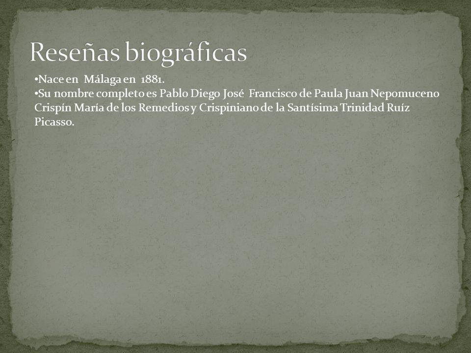 Reseñas biográficas Nace en Málaga en 1881.