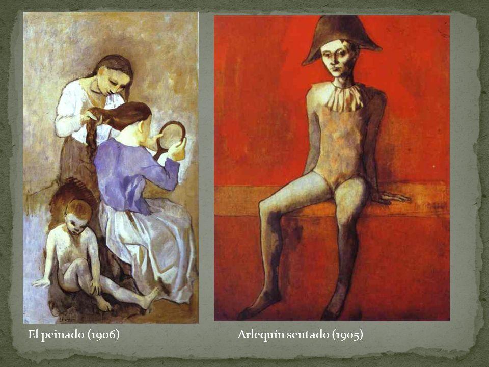 El peinado (1906) Arlequín sentado (1905)