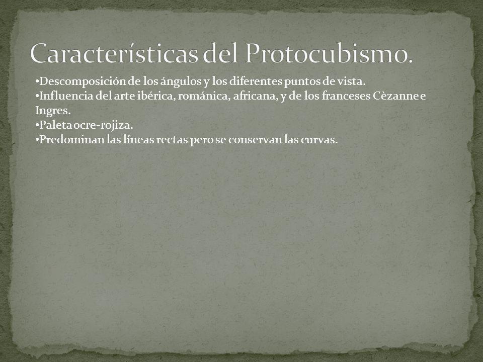 Características del Protocubismo.
