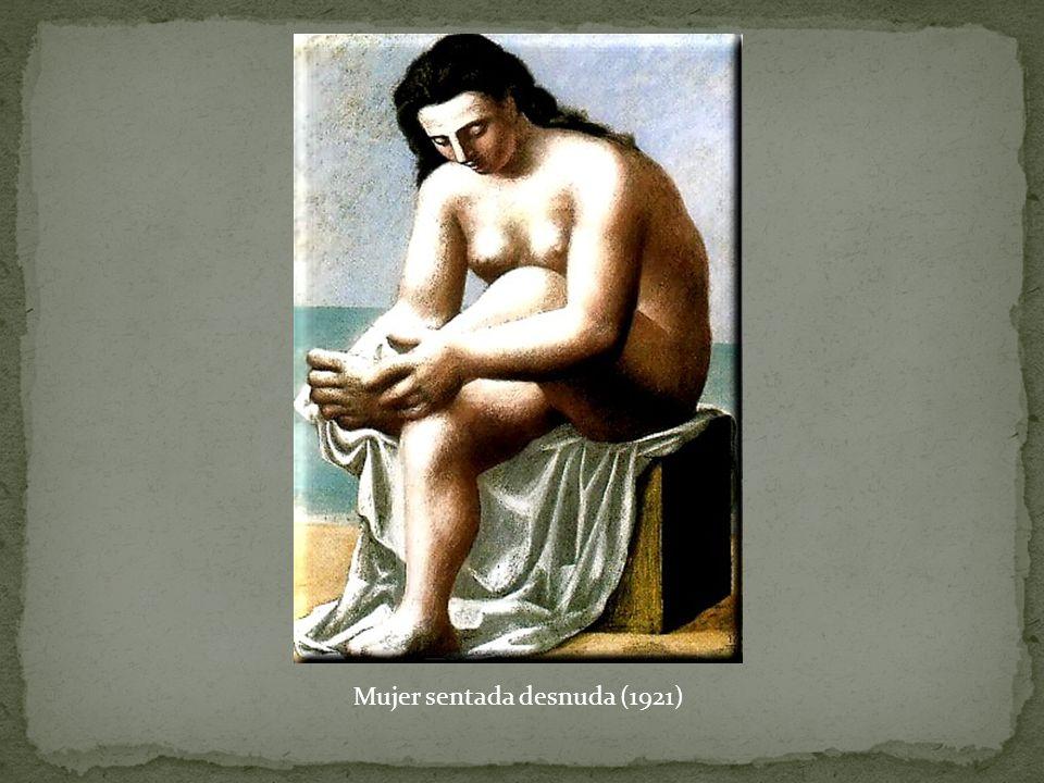 Mujer sentada desnuda (1921)