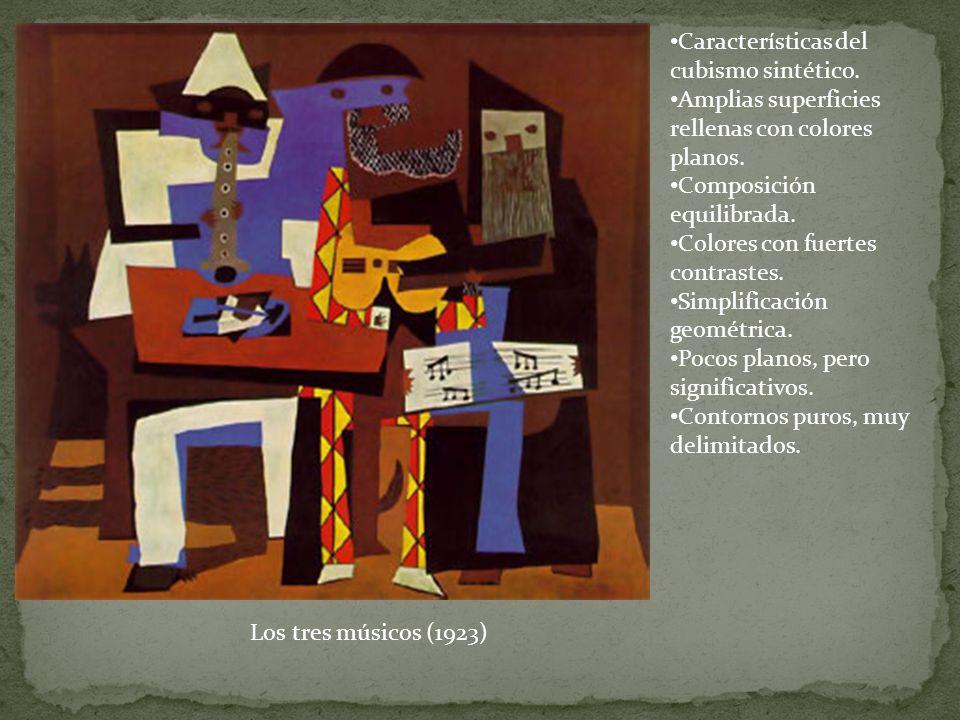 Características del cubismo sintético.