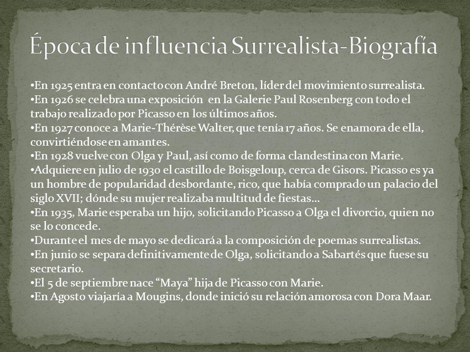Época de influencia Surrealista-Biografía