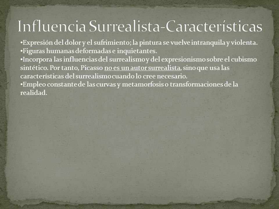 Influencia Surrealista-Características