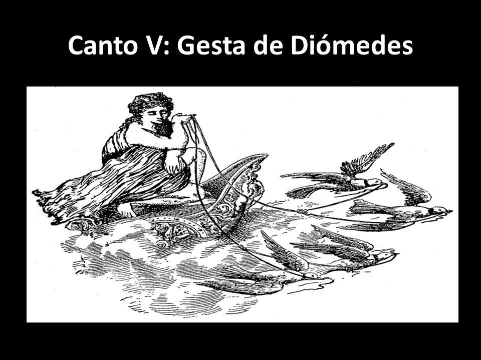 Canto V: Gesta de Diómedes
