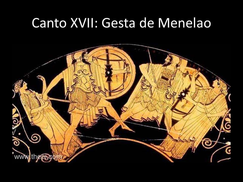 Canto XVII: Gesta de Menelao
