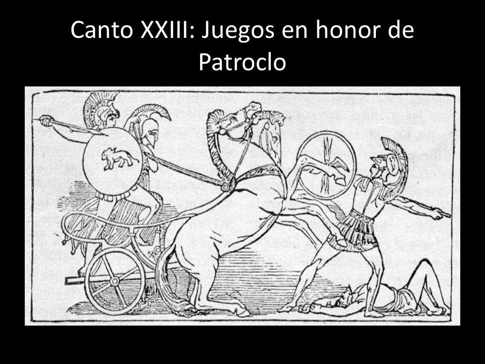 Canto XXIII: Juegos en honor de Patroclo