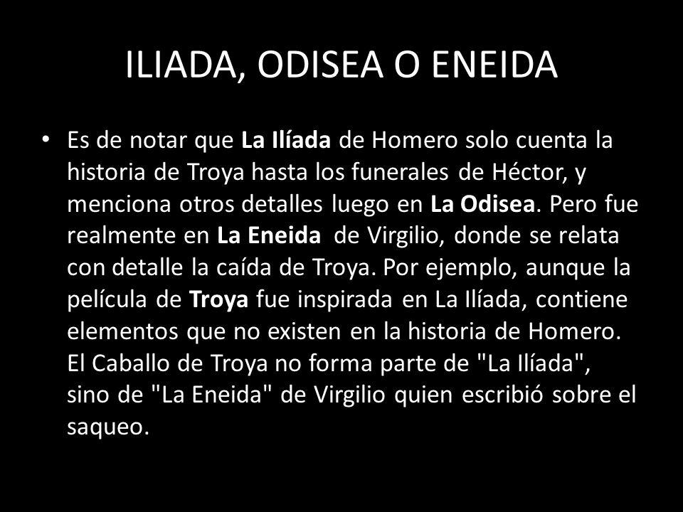 ILIADA, ODISEA O ENEIDA