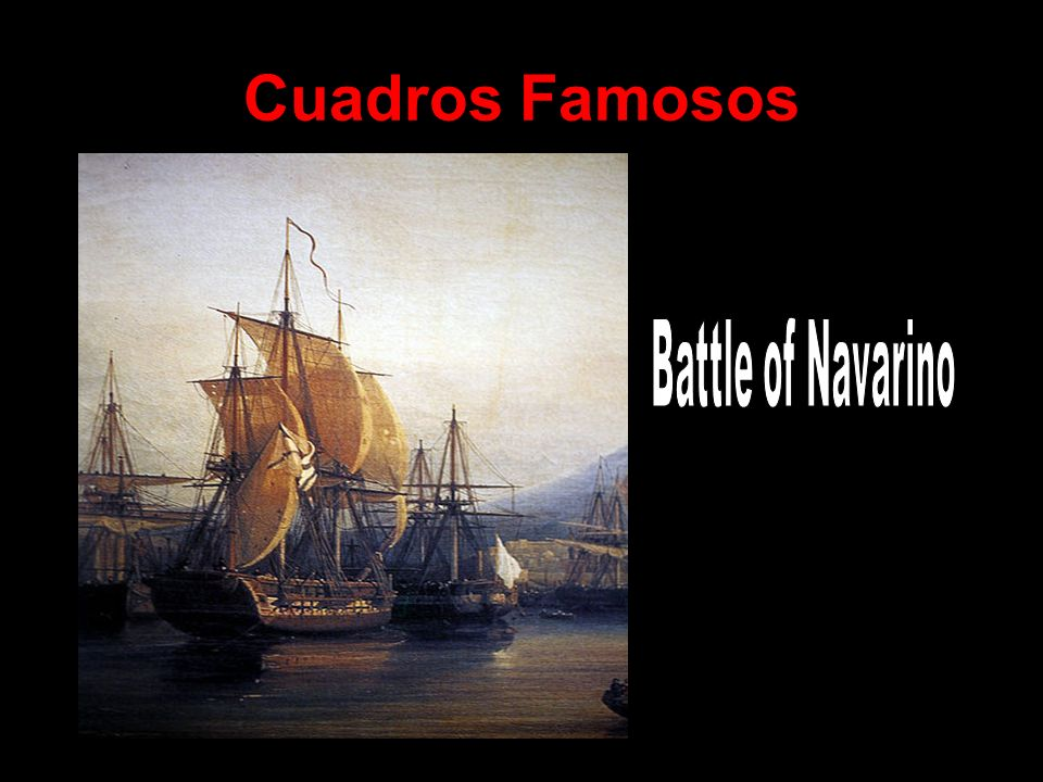 Cuadros Famosos Battle of Navarino