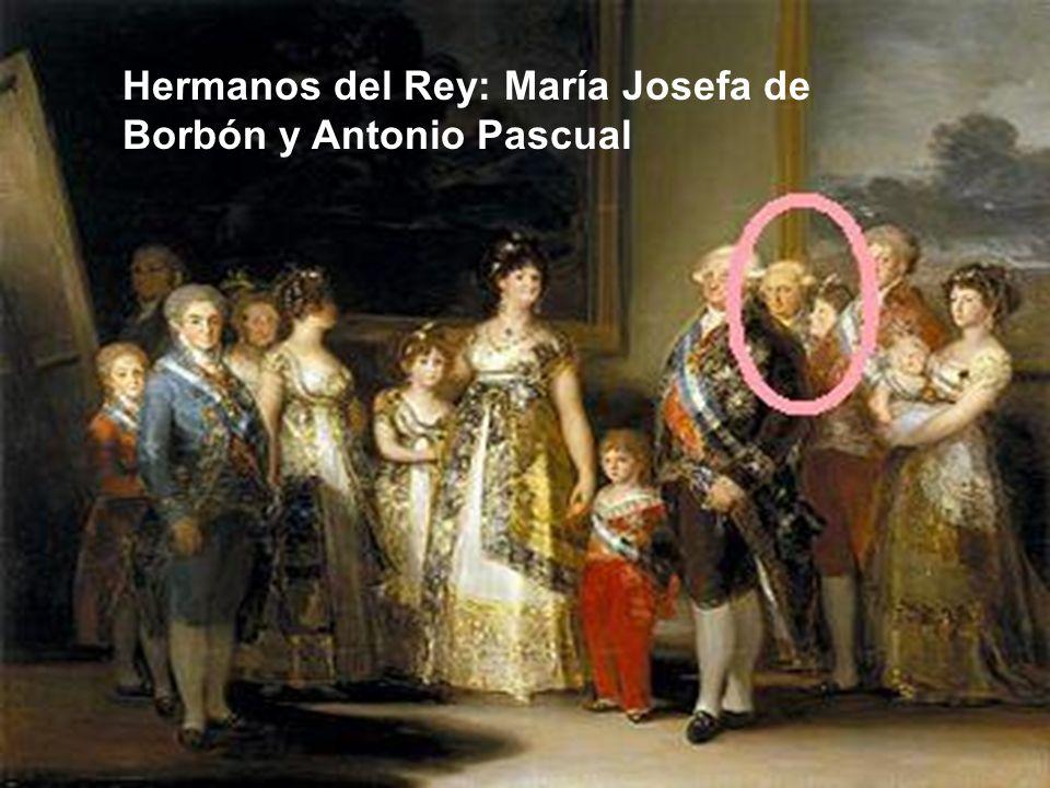 Hermanos del Rey: María Josefa de Borbón y Antonio Pascual