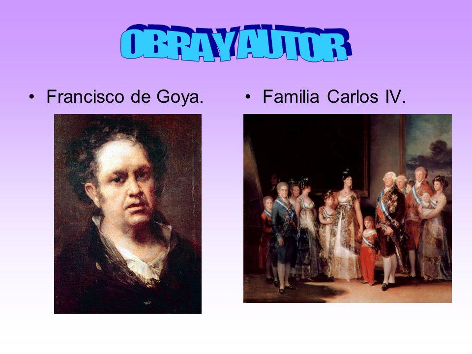 OBRA Y AUTOR Francisco de Goya. Familia Carlos IV.