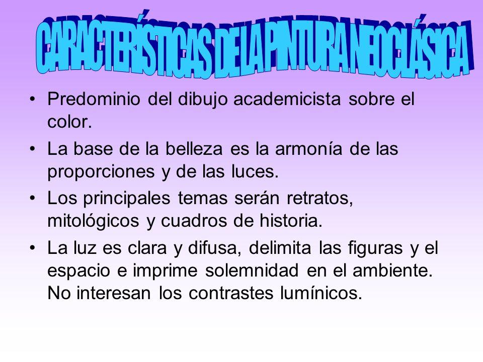 CARACTERÍSTICAS DE LA PINTURA NEOCLÁSICA