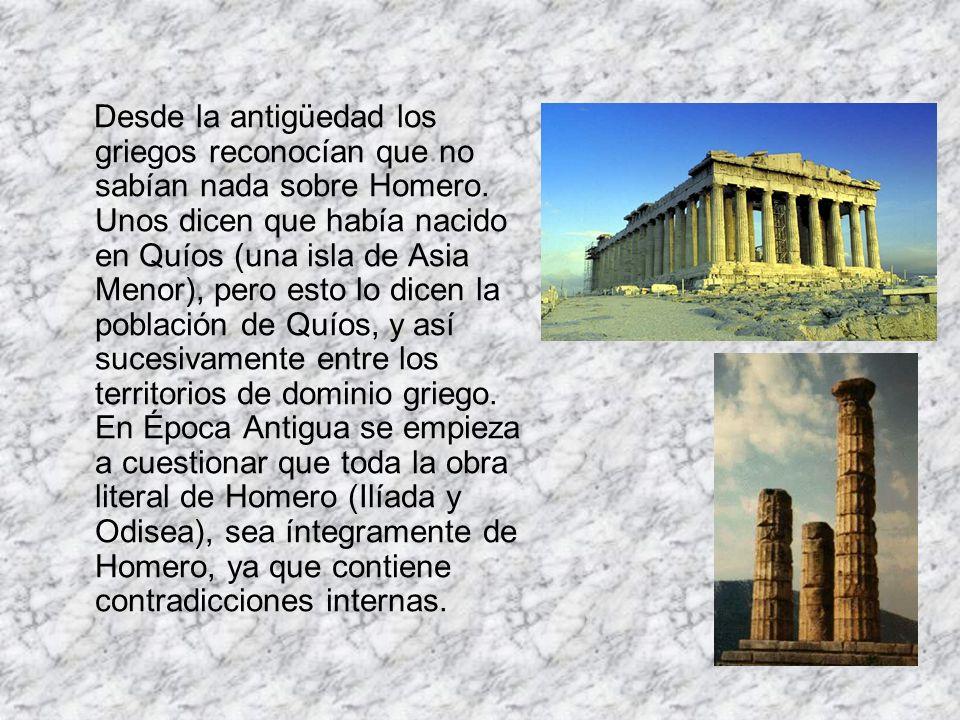 Desde la antigüedad los griegos reconocían que no sabían nada sobre Homero.
