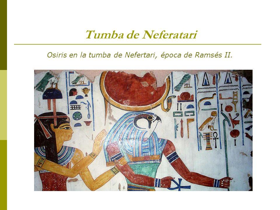 Osiris en la tumba de Nefertari, época de Ramsés II.