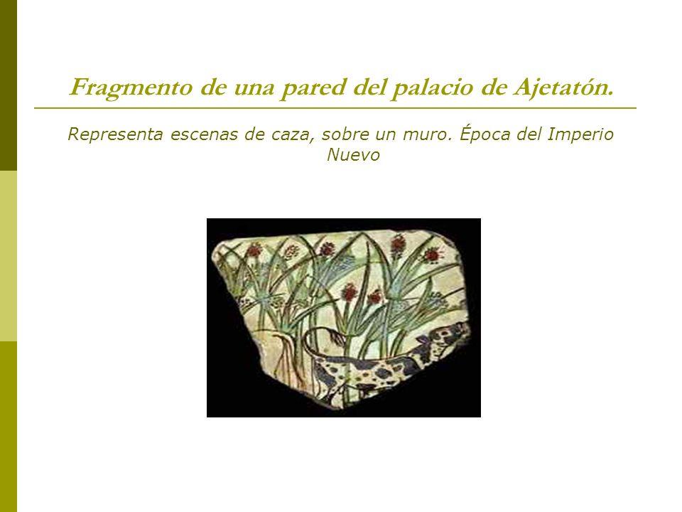 Fragmento de una pared del palacio de Ajetatón.