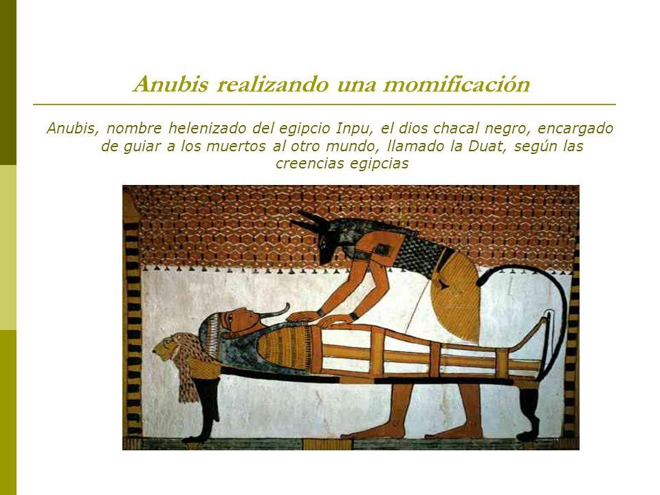 Anubis realizando una momificación