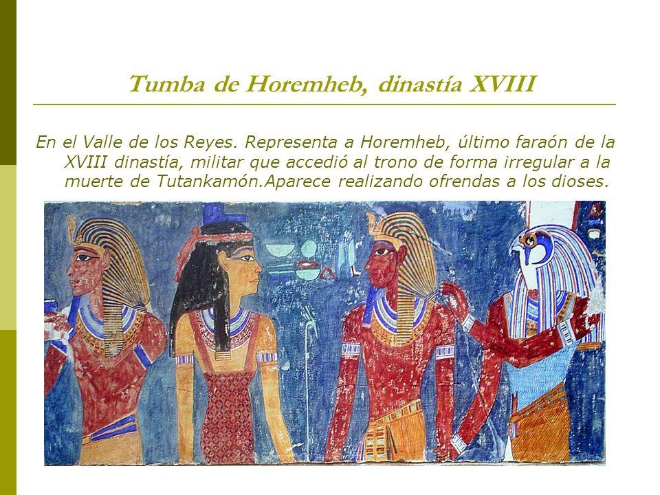 Tumba de Horemheb, dinastía XVIII