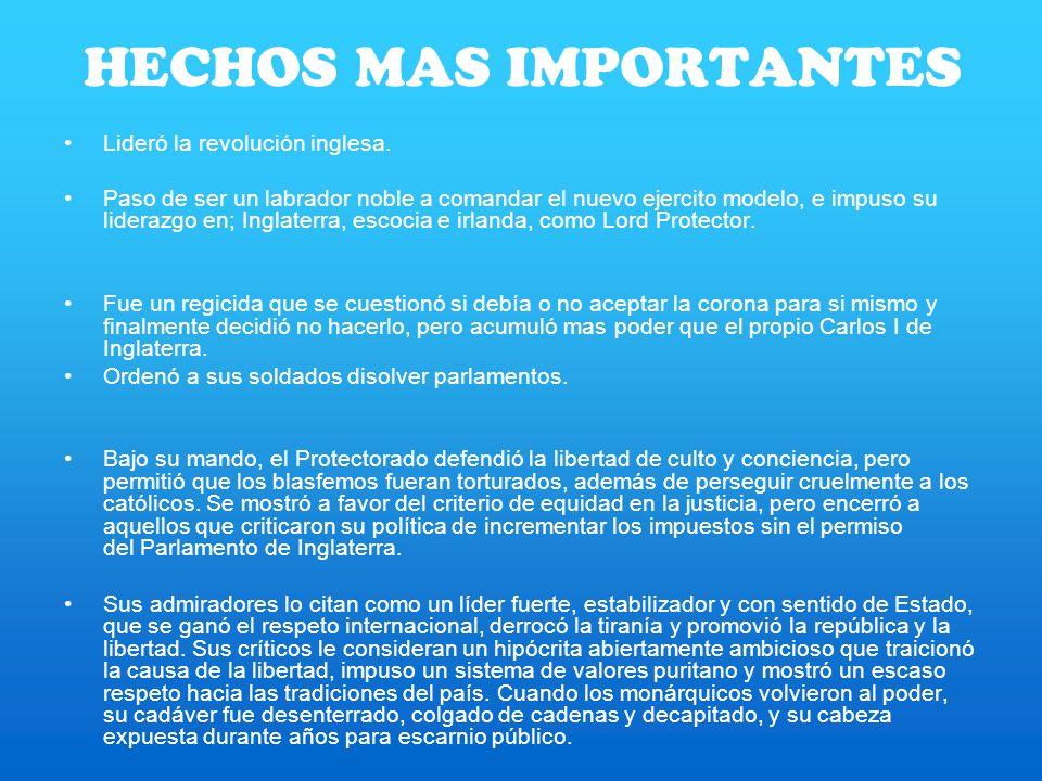 HECHOS MAS IMPORTANTES