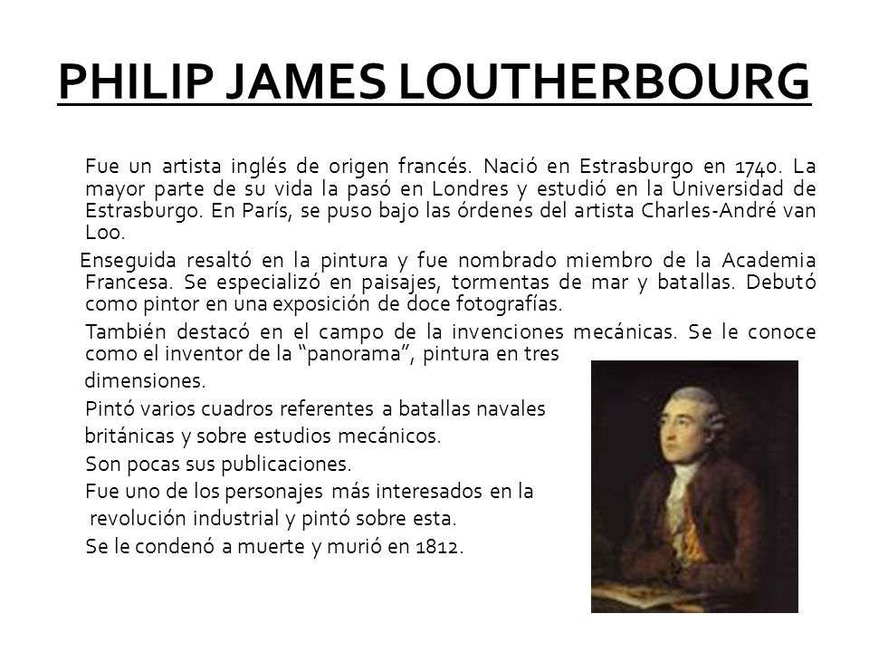 PHILIP JAMES LOUTHERBOURG