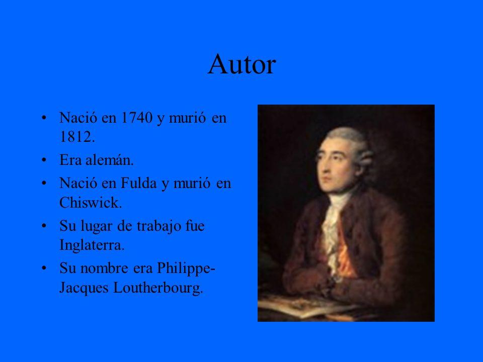 Autor Nació en 1740 y murió en 1812. Era alemán.