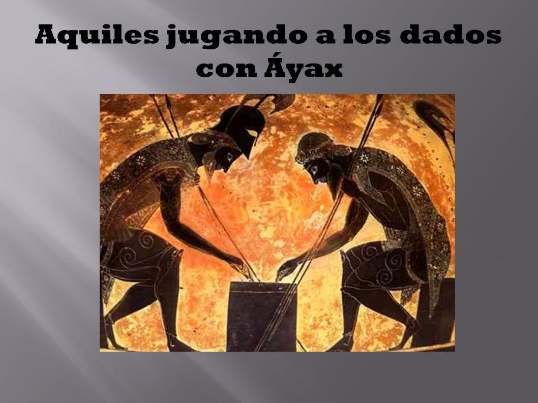 Aquiles jugando a los dados con Áyax