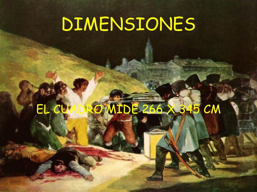 DIMENSIONES EL CUADRO MIDE 266 X 345 CM