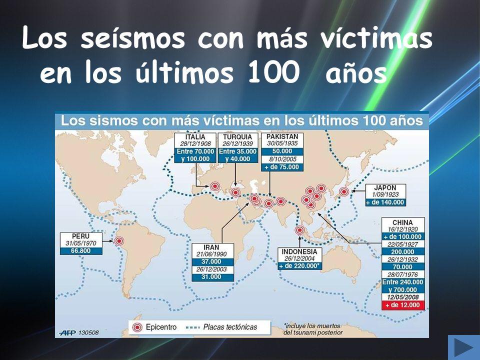 Los seísmos con más víctimas en los últimos 100 años