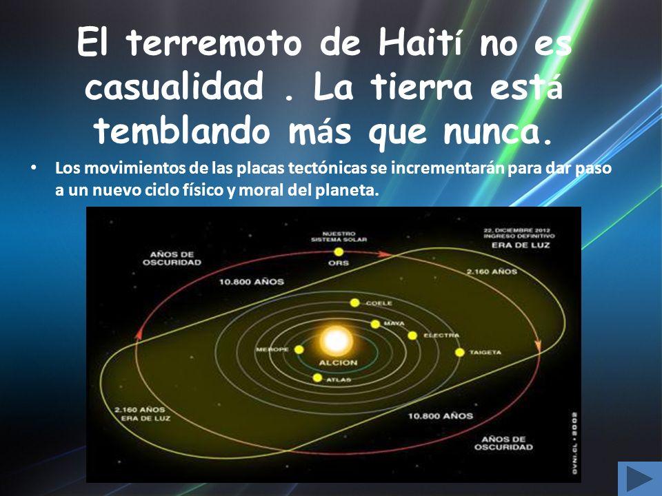 El terremoto de Haití no es casualidad