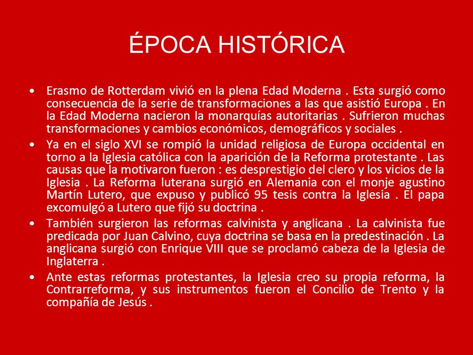 ÉPOCA HISTÓRICA