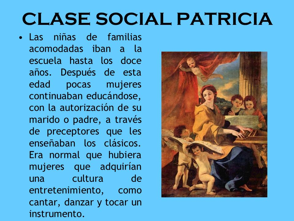 CLASE SOCIAL PATRICIA