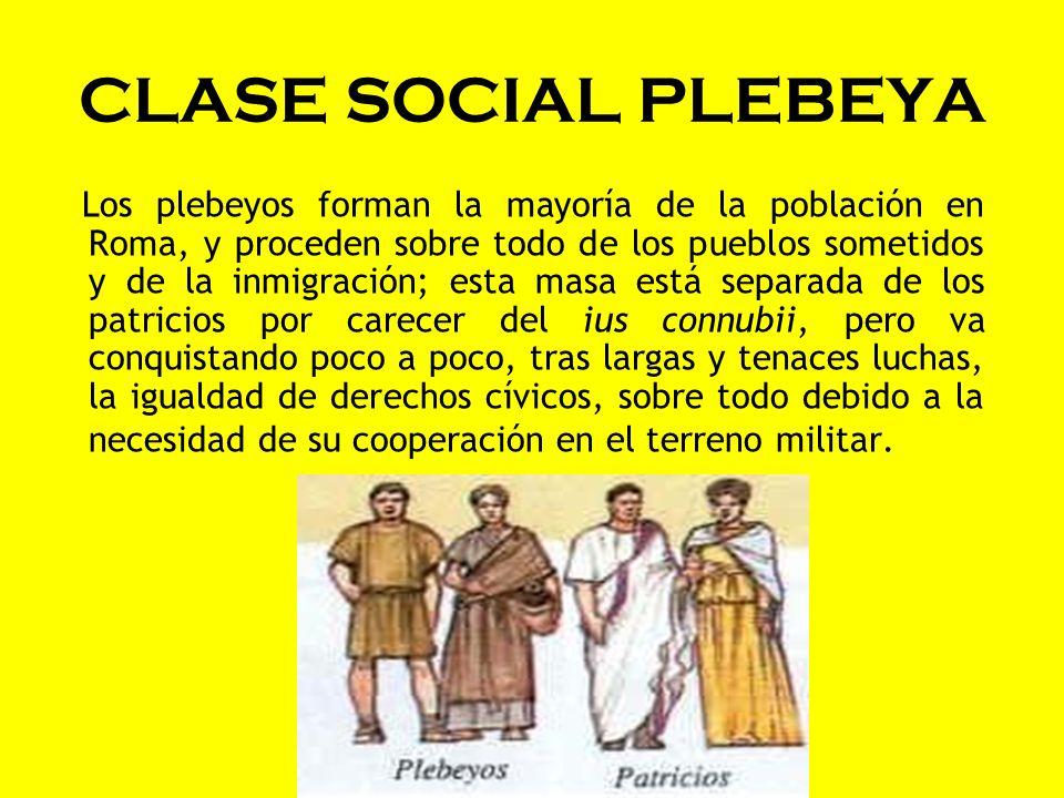 CLASE SOCIAL PLEBEYA