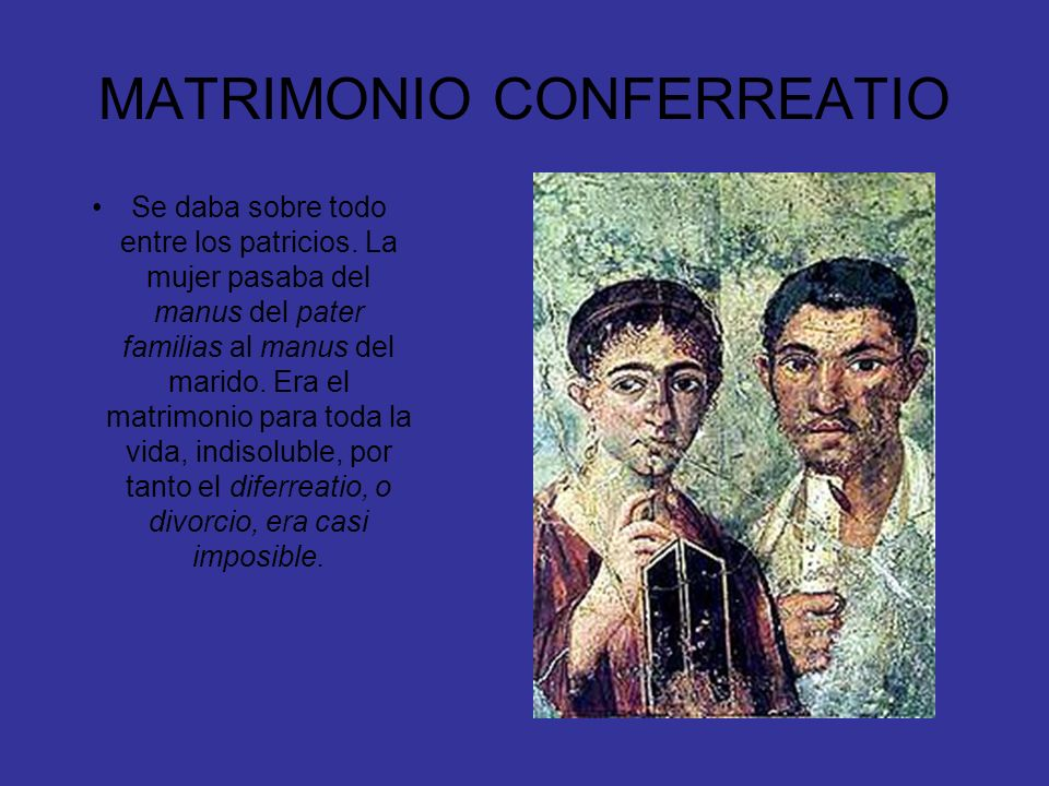 MATRIMONIO CONFERREATIO