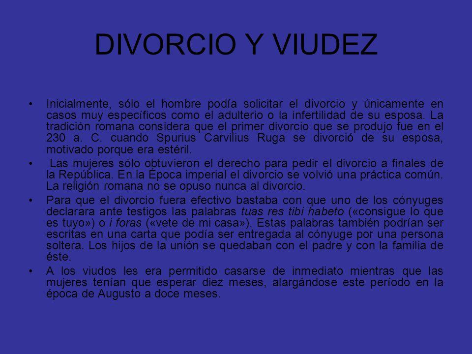 DIVORCIO Y VIUDEZ