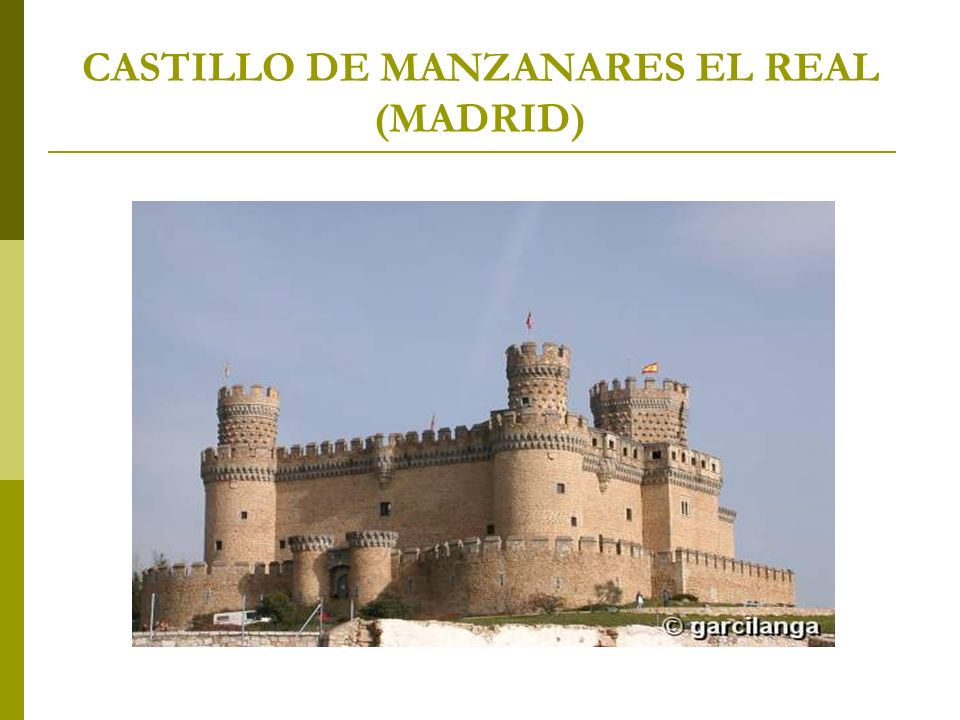 CASTILLO DE MANZANARES EL REAL (MADRID)