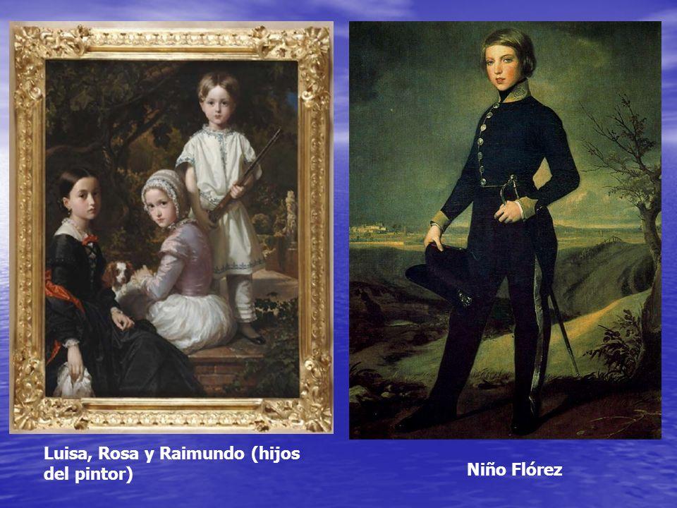 Luisa, Rosa y Raimundo (hijos del pintor)