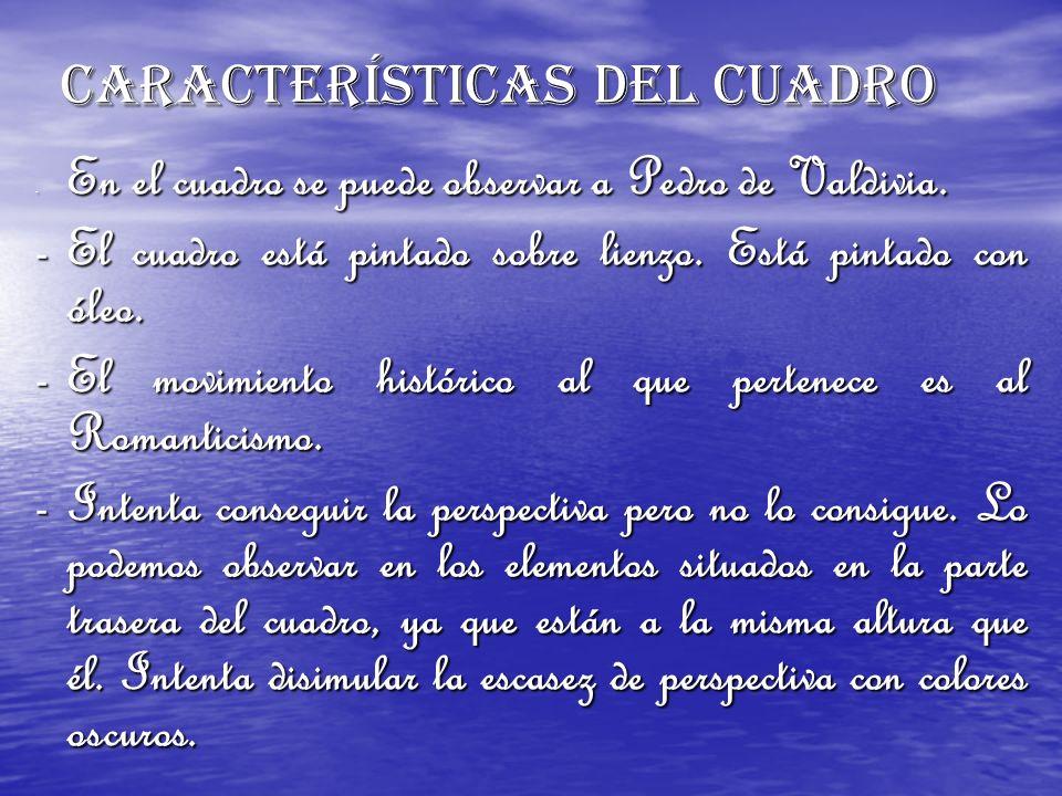 CARACTERÍSTICAS DEL CUADRO