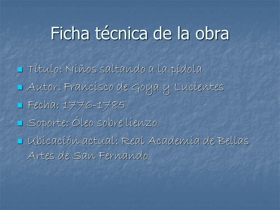 Ficha técnica de la obra
