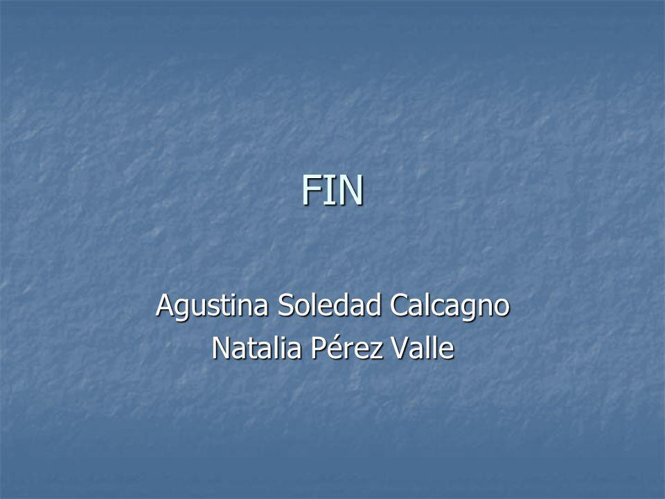 Agustina Soledad Calcagno Natalia Pérez Valle