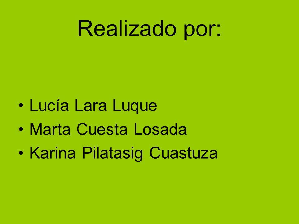 Realizado por: Lucía Lara Luque Marta Cuesta Losada