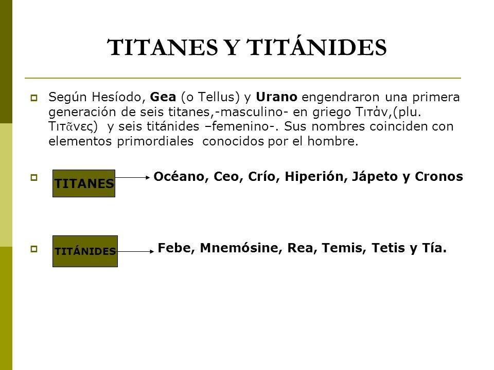 TITANES Y TITÁNIDES