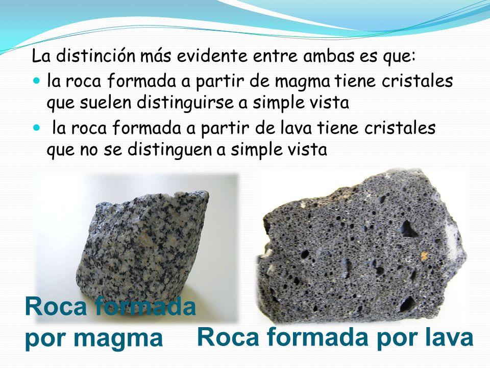 Roca formada por magma Roca formada por lava