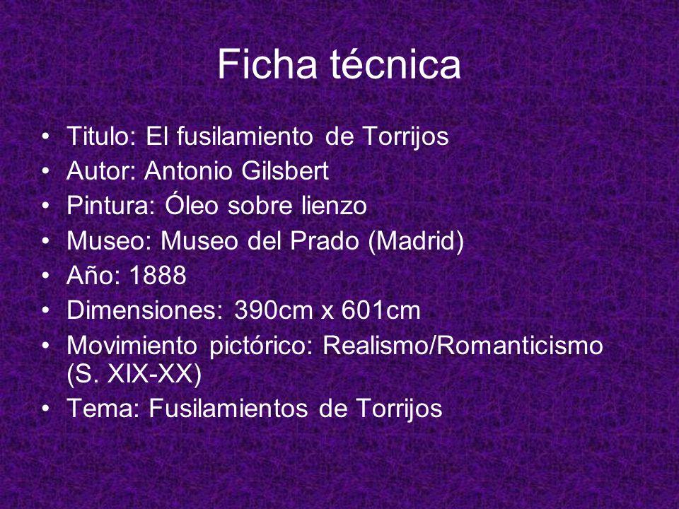 Ficha técnica Titulo: El fusilamiento de Torrijos