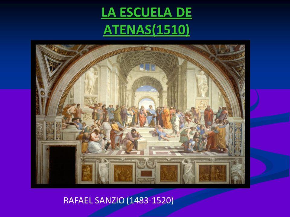 LA ESCUELA DE ATENAS(1510) RAFAEL SANZIO (1483-1520)