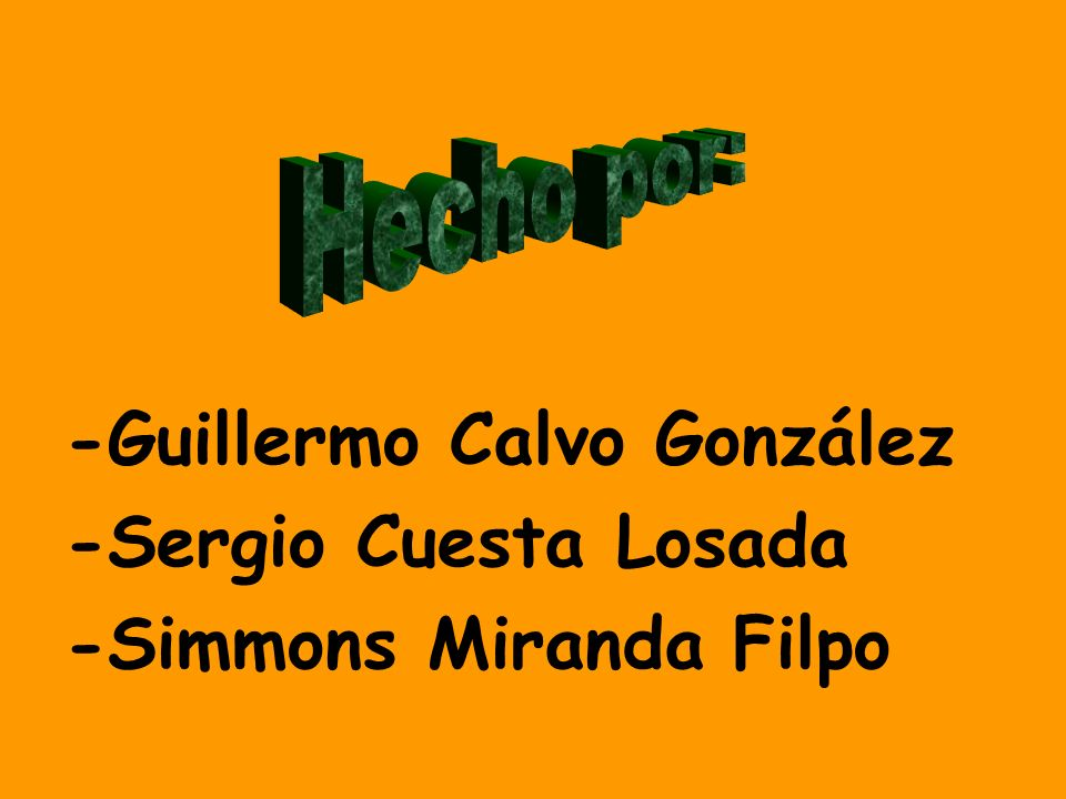 -Guillermo Calvo González -Sergio Cuesta Losada -Simmons Miranda Filpo