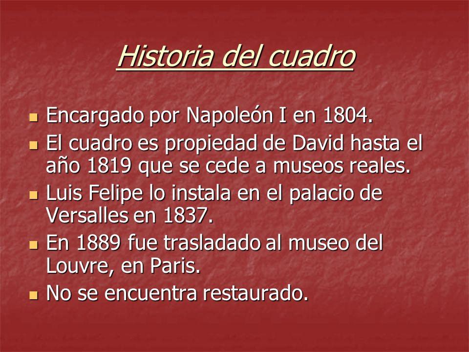 Historia del cuadro Encargado por Napoleón I en 1804.