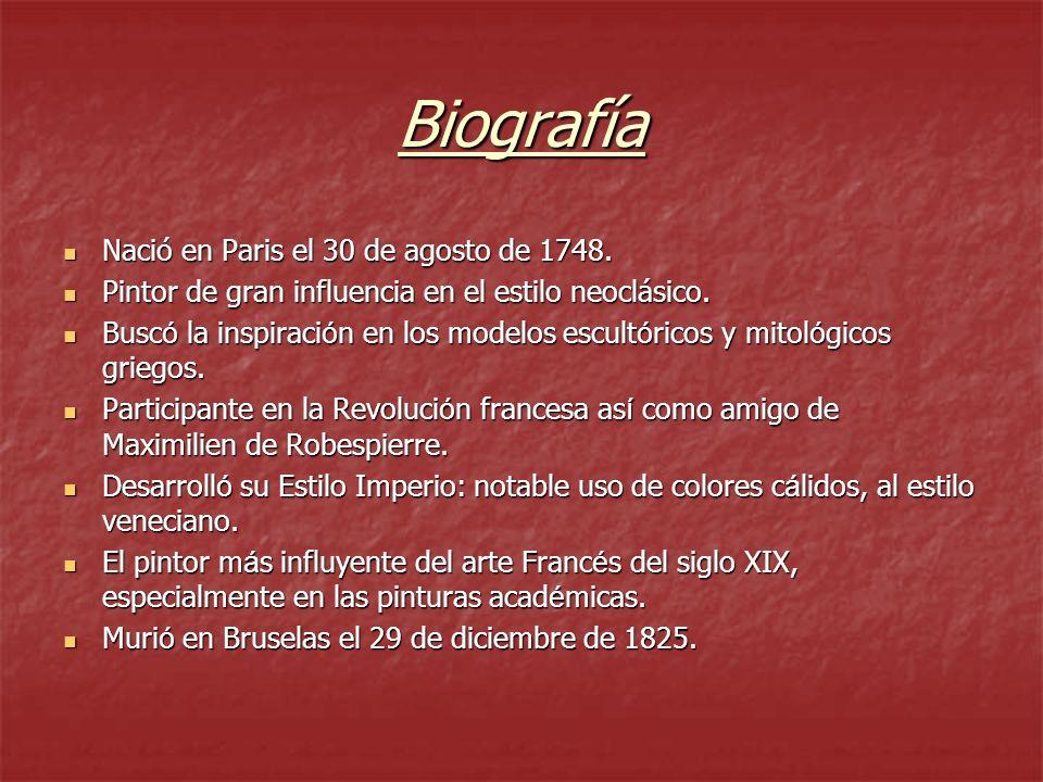 Biografía Nació en Paris el 30 de agosto de 1748.