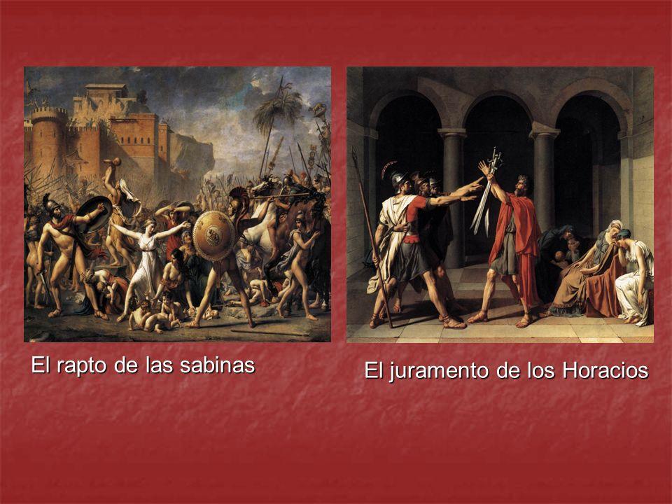 El rapto de las sabinas El juramento de los Horacios