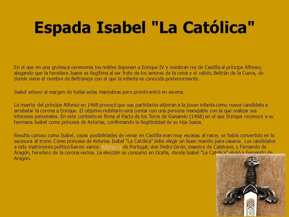 Espada Isabel La Católica